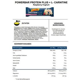 PowerBar Protein Plus L-Carnitine Żywność dla sportowców Raspberry-Yoghurt 30 x 35g